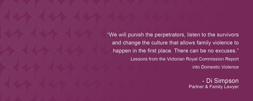 Lessons from the Victorian Royal Commission Report into Domestic Violence
