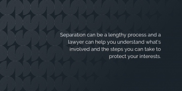 Should you see a lawyer before you separate?